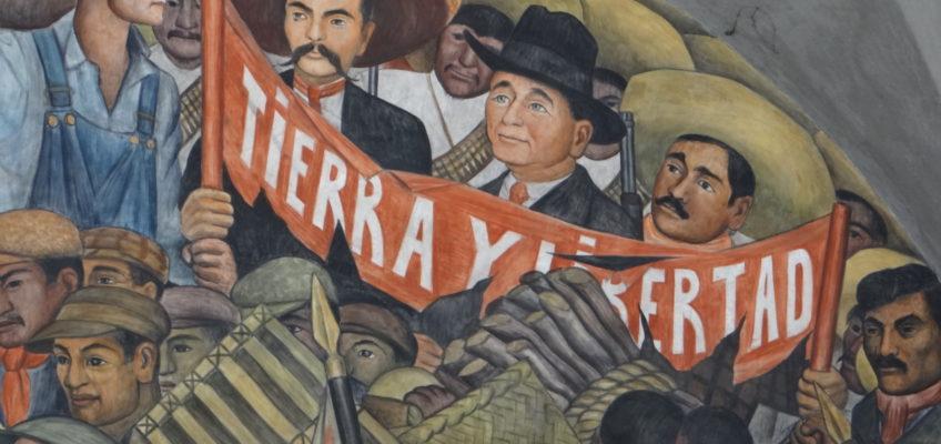 Diego Rivera mural featuring Emiliano Zapata