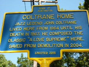 New York State Historic Marker of the John Coltrane House