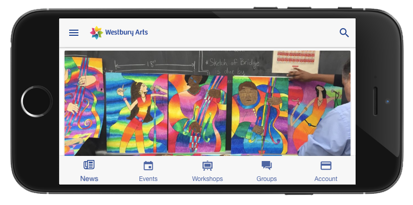 Westbury Arts app