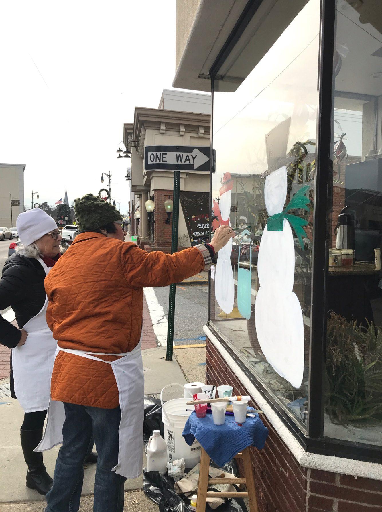 2018 Holiday Window Painting - Westbury Arts