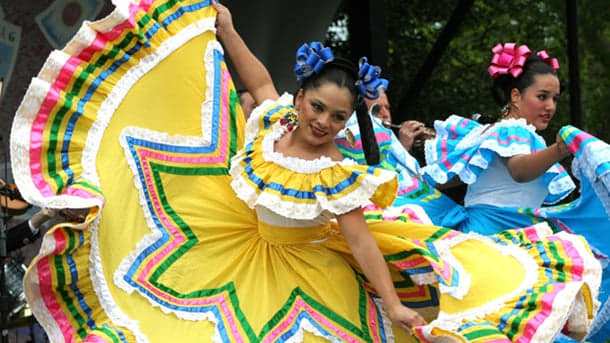 Hispanic heritage dancing