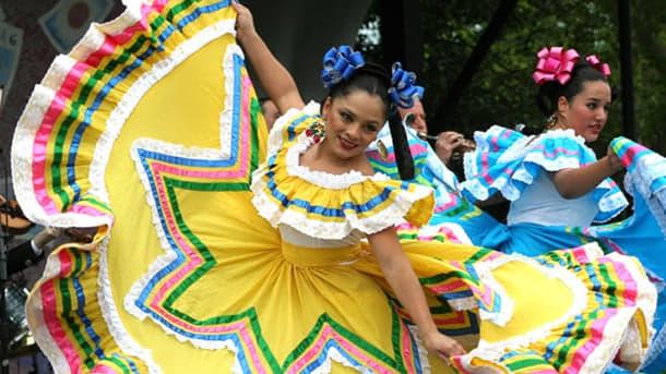 Hispanic heritage dancing