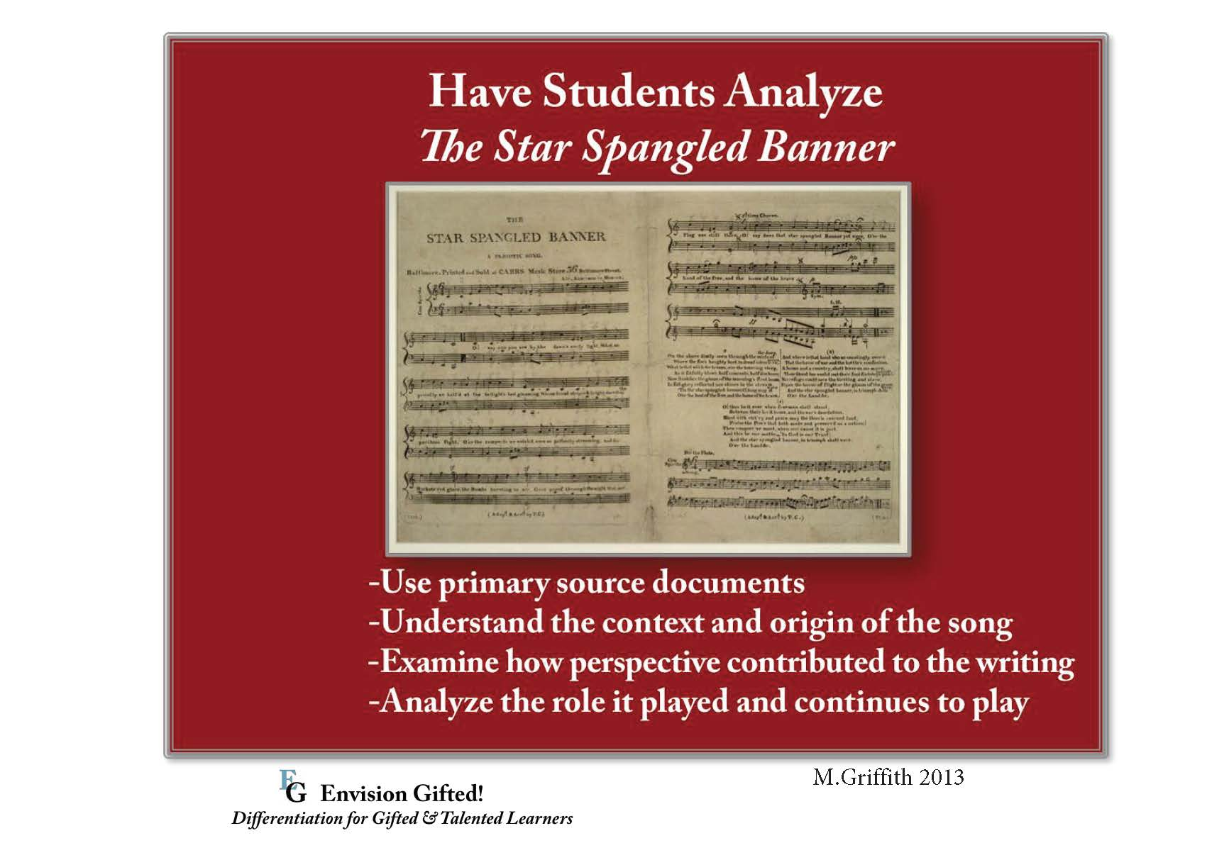 Envision Gifted. Star Spangled Banner. Depth and Complexity
