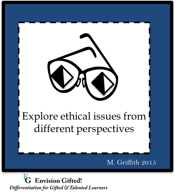 image shows ethical issues from perspectives