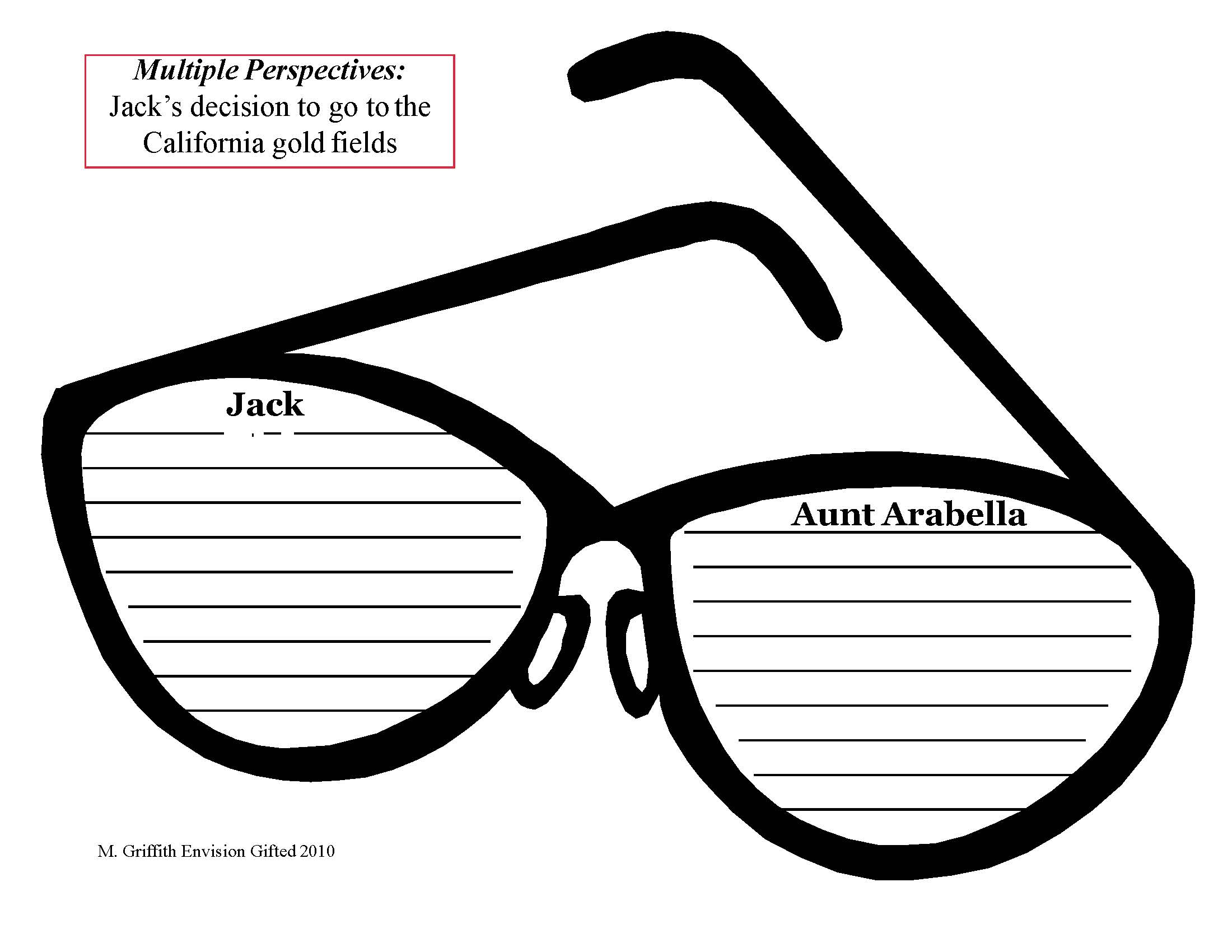 Envision Gifted. Multiple Perspectives Jack Great Horn Spoon Template