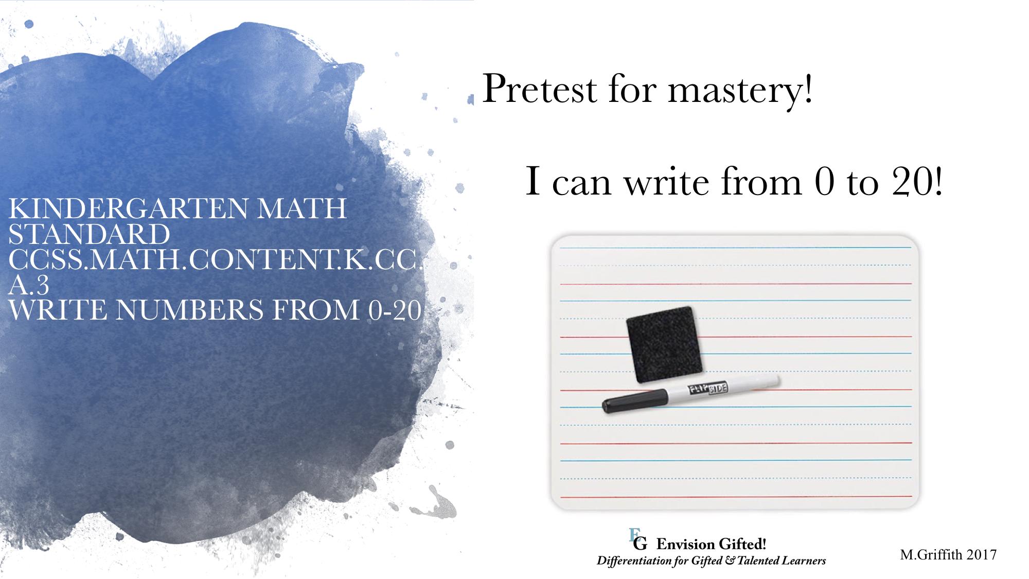 Image of Kinder Pretest Math