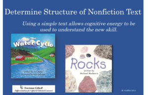 Envision Gifted. Determine Nonfiction Structure