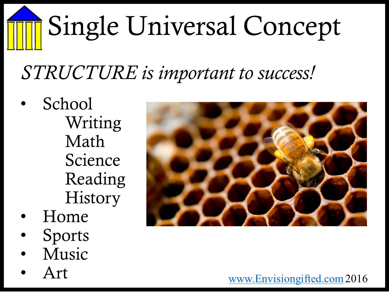Envision Gifted. Universal Concept Structure