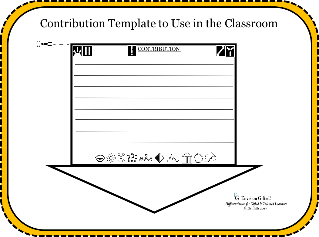 Envision Gifted. Contribution Template for Classroom