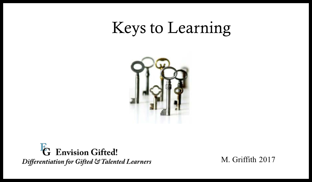 Envision Gifted. Keys to Learning