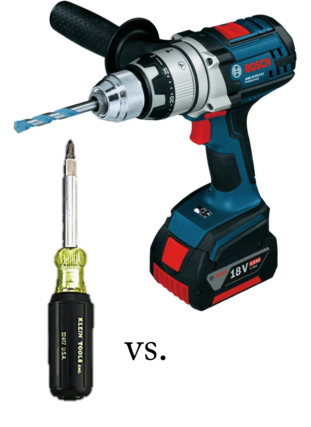 Envision Gifted Blog. Pedagogy of Plenty. Screwdriver vs drill