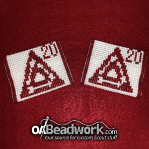 OA Beadwork custom shoulder loops