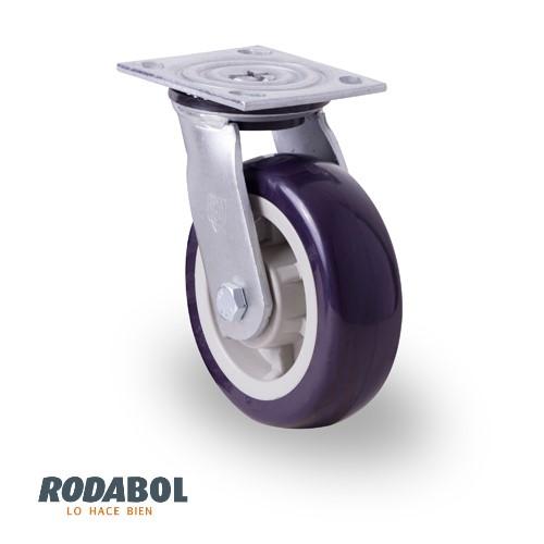 Rodaja industrial placa poliuretano