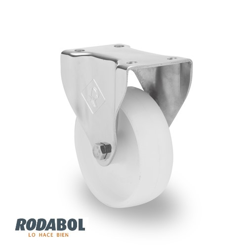 Rodaja inoxidable fija nylon
