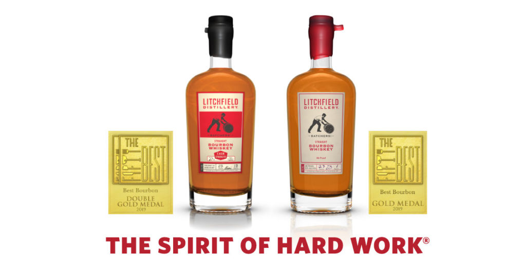 Litchfield Distillery Bourbons earn gold medals.