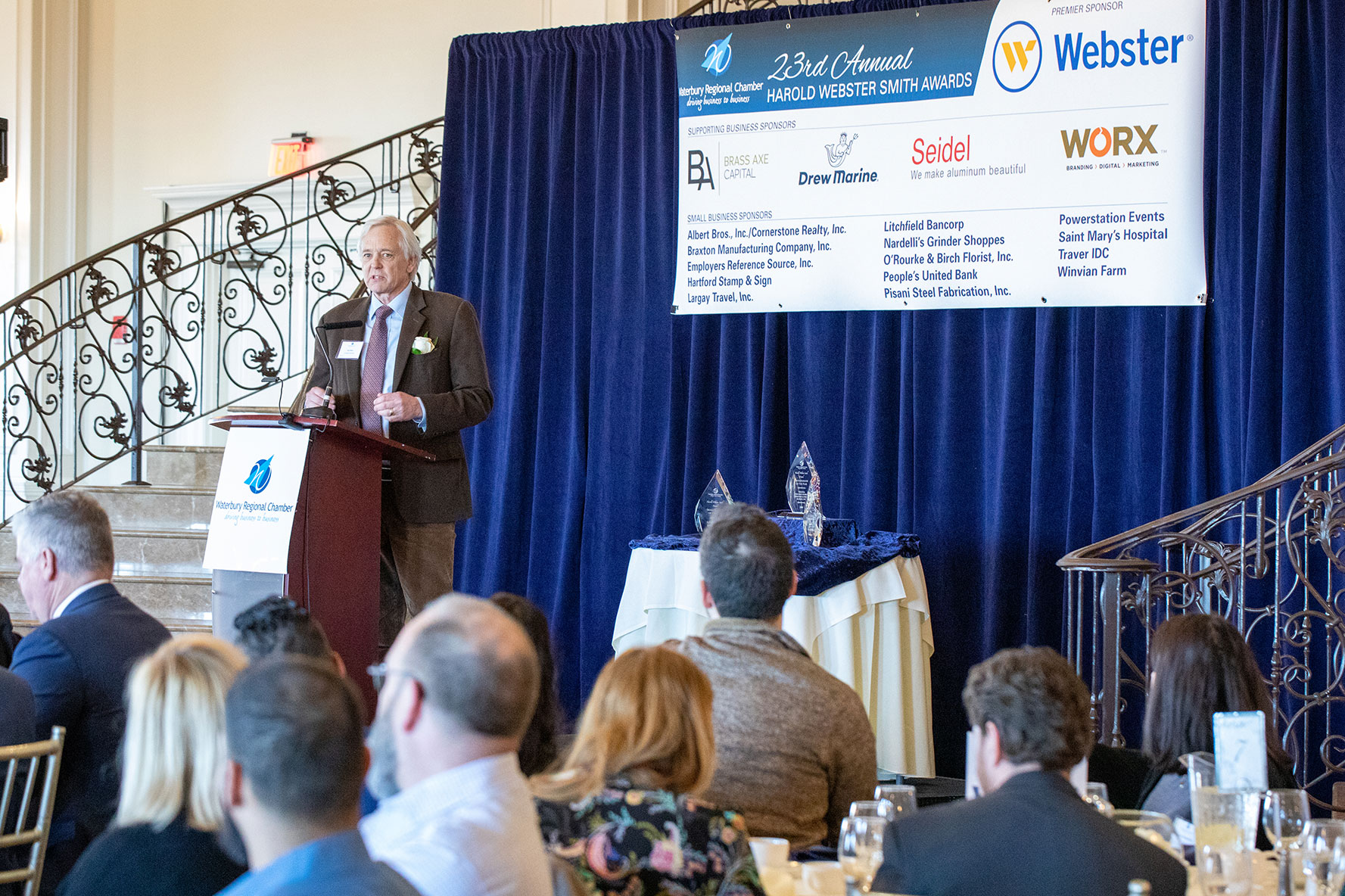 Jack Baker Accepting Small Business of the Year Award