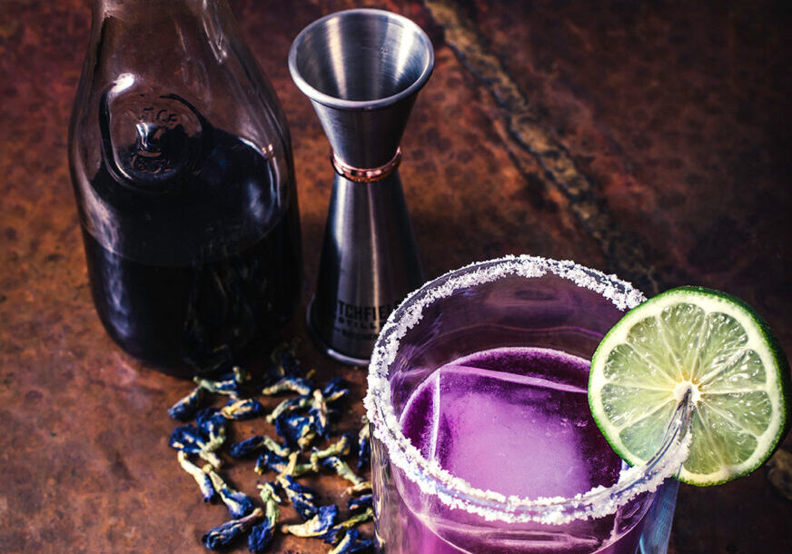 Butterfly Pea Flower Margarita