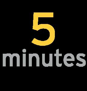 5 minutes prep
