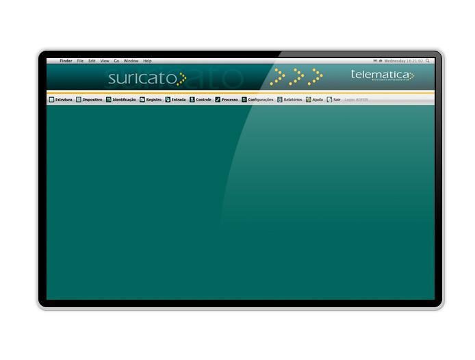 Tela software Suricato Telematica