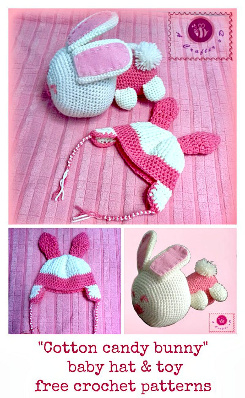 crochet bunny set