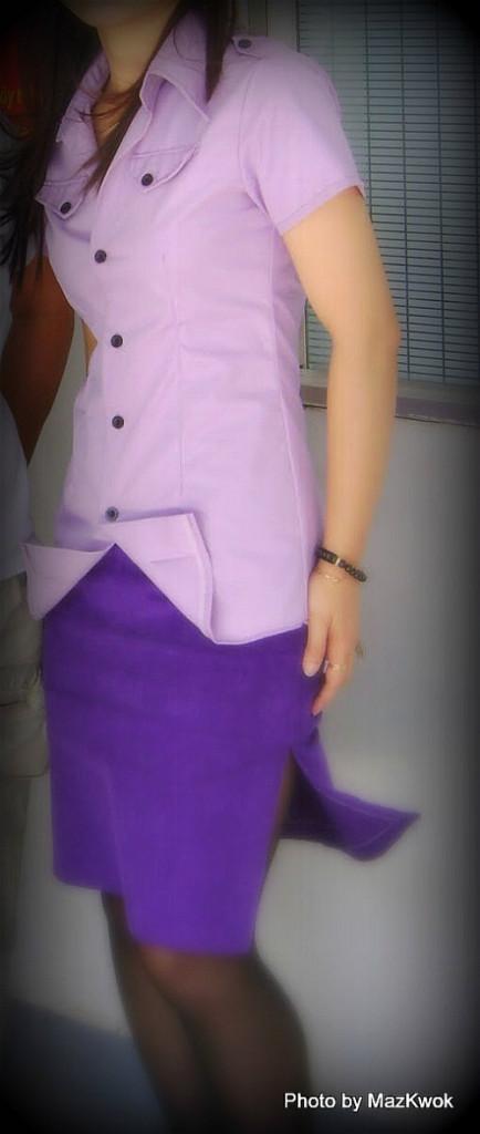 double side slit straight skirt