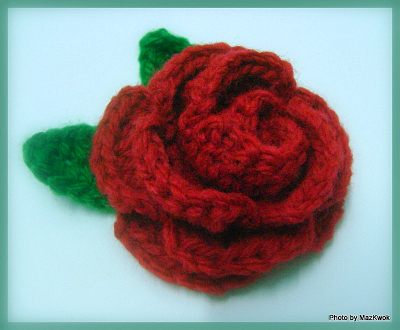 crochet rose free pattern