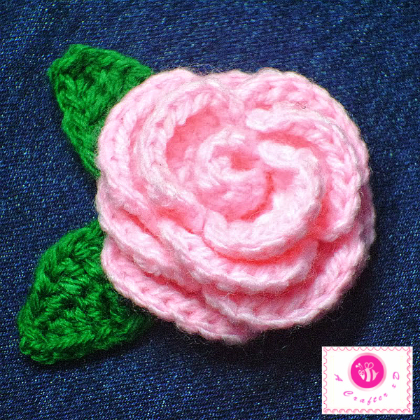 crochet blooming rose