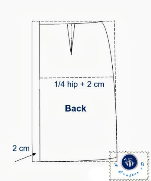 back pattern for straight skirt