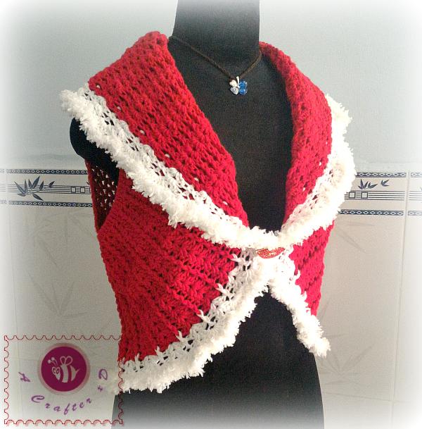 crochet Santa circle vest