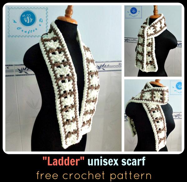 crochet unisex scarf free pattern