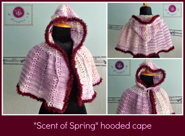 crochet hooded cape