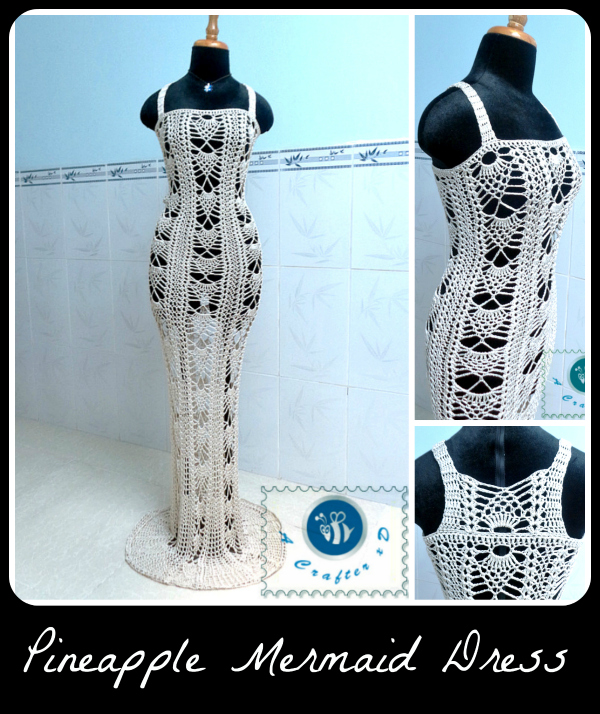 crochet mermaid dress