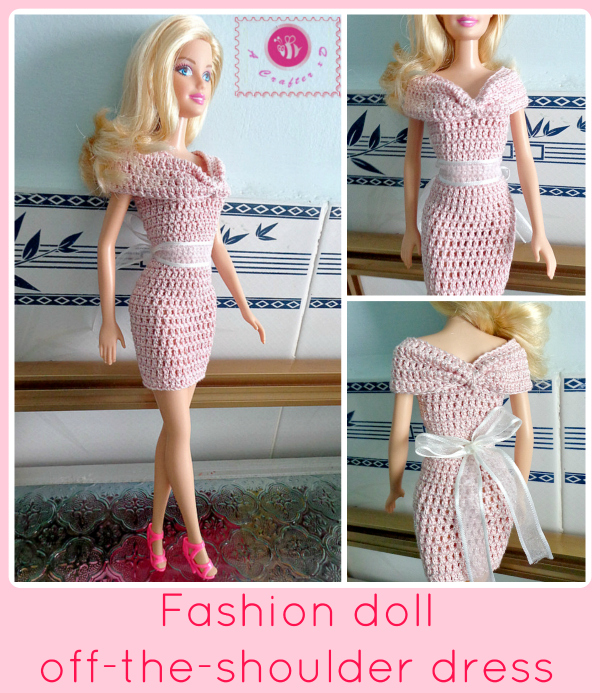 crochet dress for fashion doll