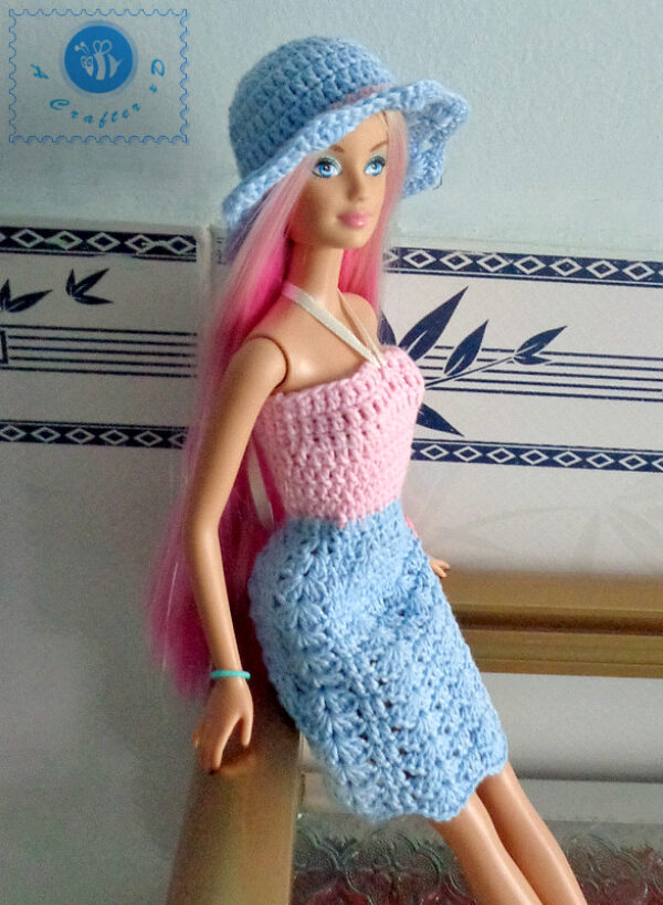 crochet barbie sun dress