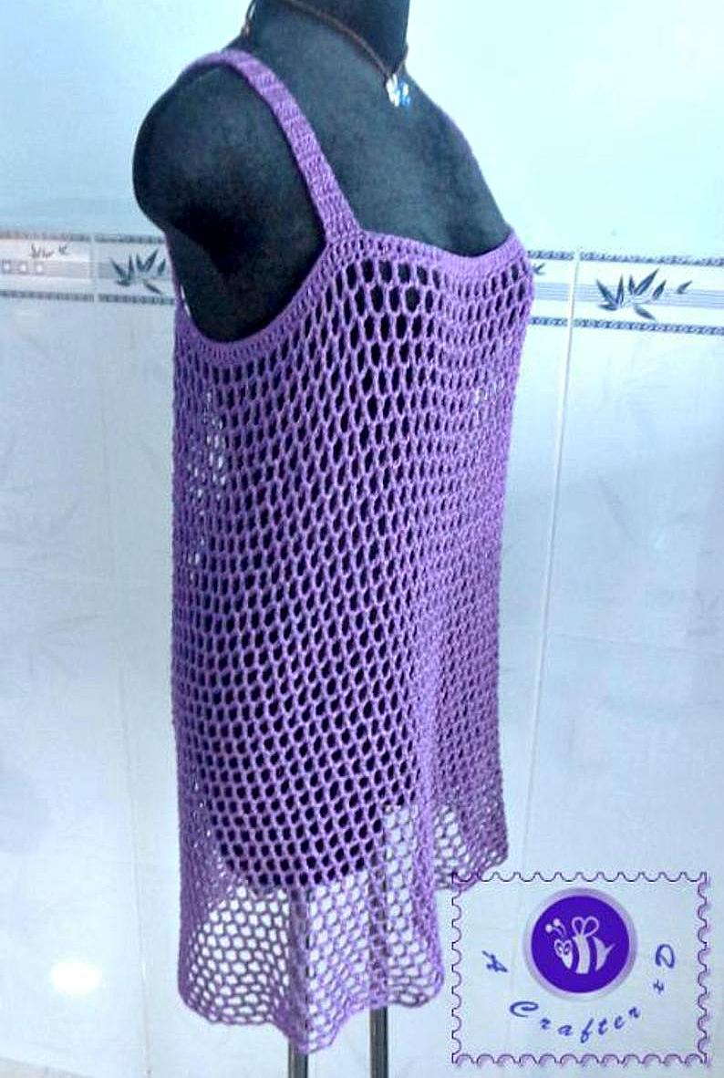 crochet mesh dress
