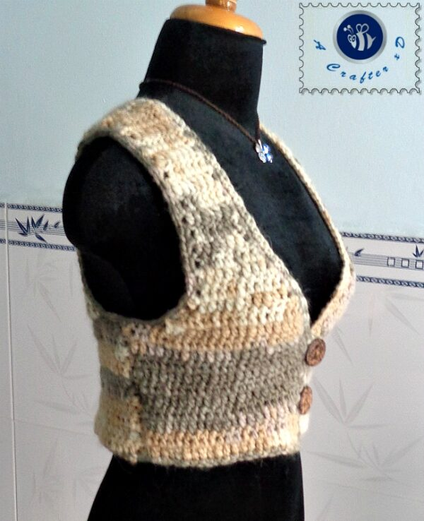 crochet short vest free pattern