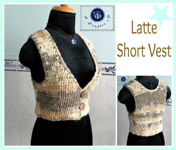 crochet short vest
