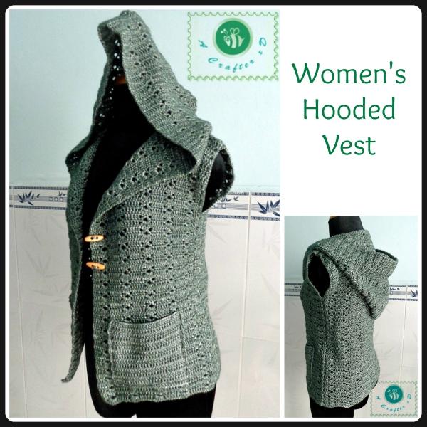 how to crochet hooded vest