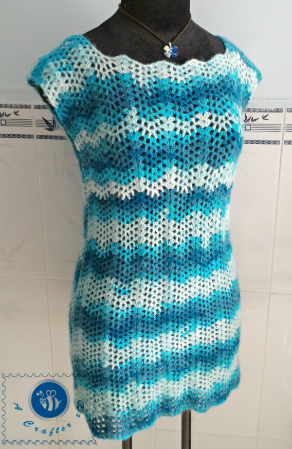 crochet chevron top
