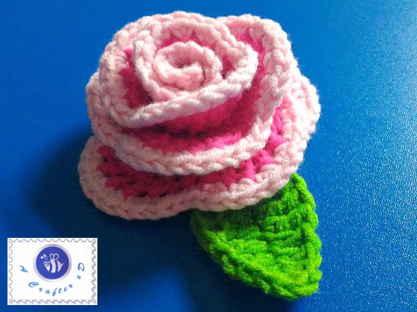 crochet rose embellishment