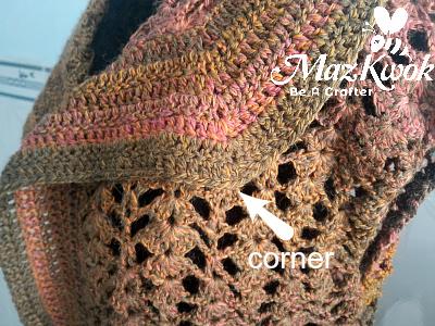 crochet big lapel