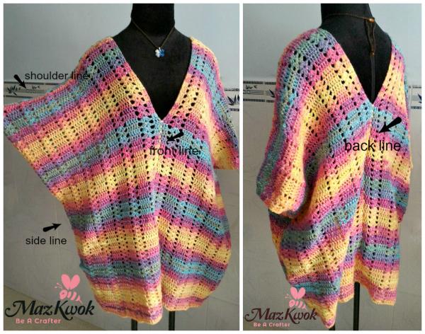 crochet caftan tunic