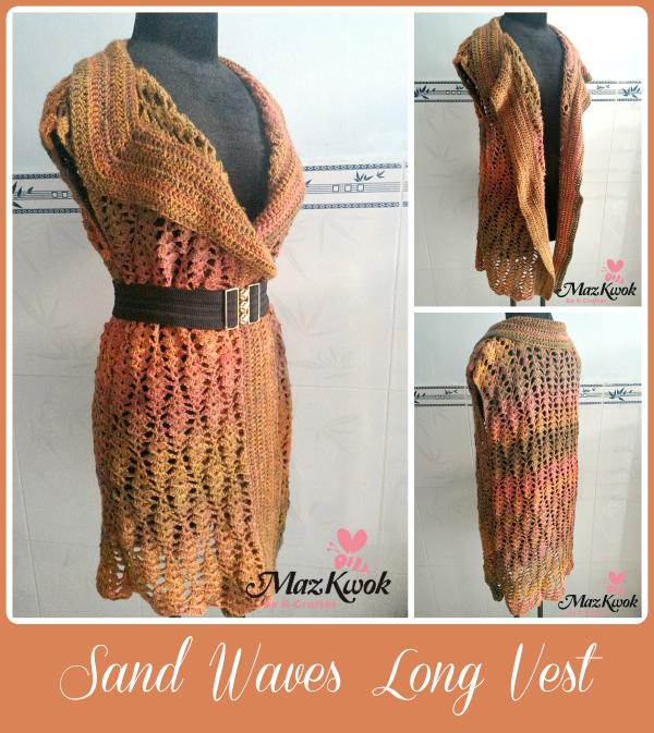 crochet long vest