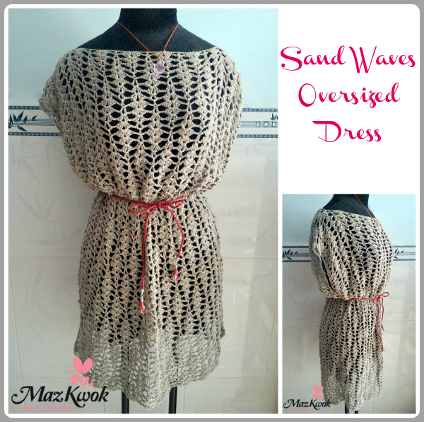crochet oversized dress