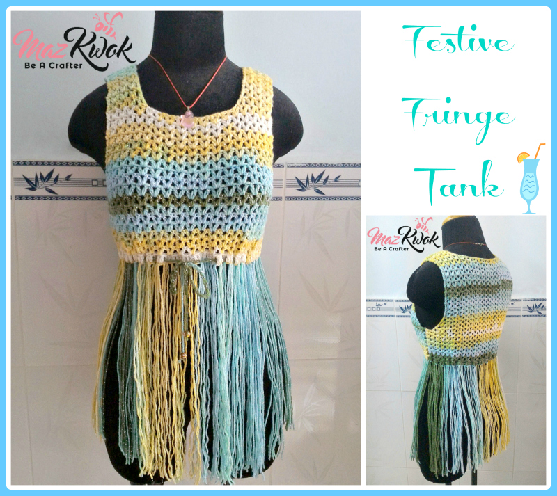 crochet fringe tank top