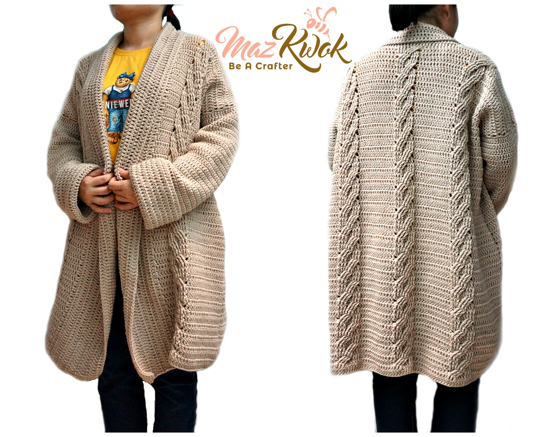 crochet oversized cardigan