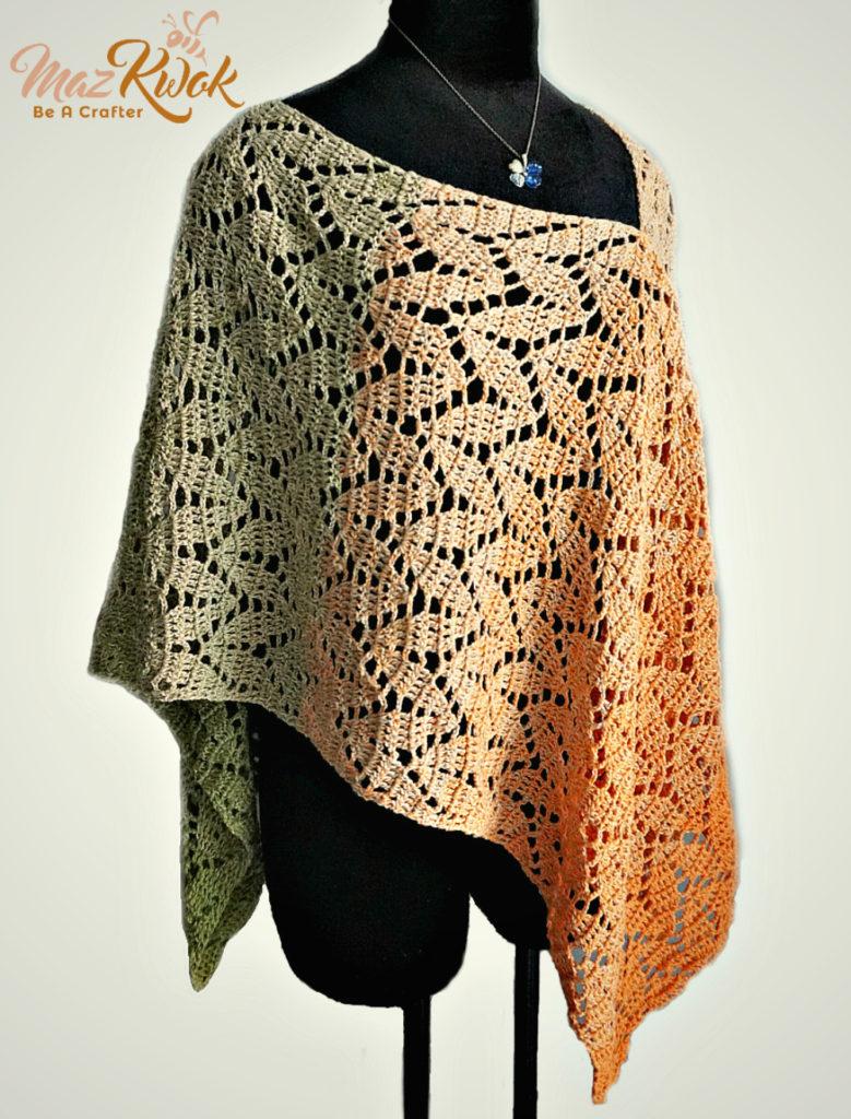 crochet lacy poncho