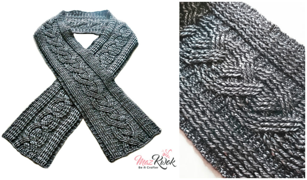 crochet cable scarf male version