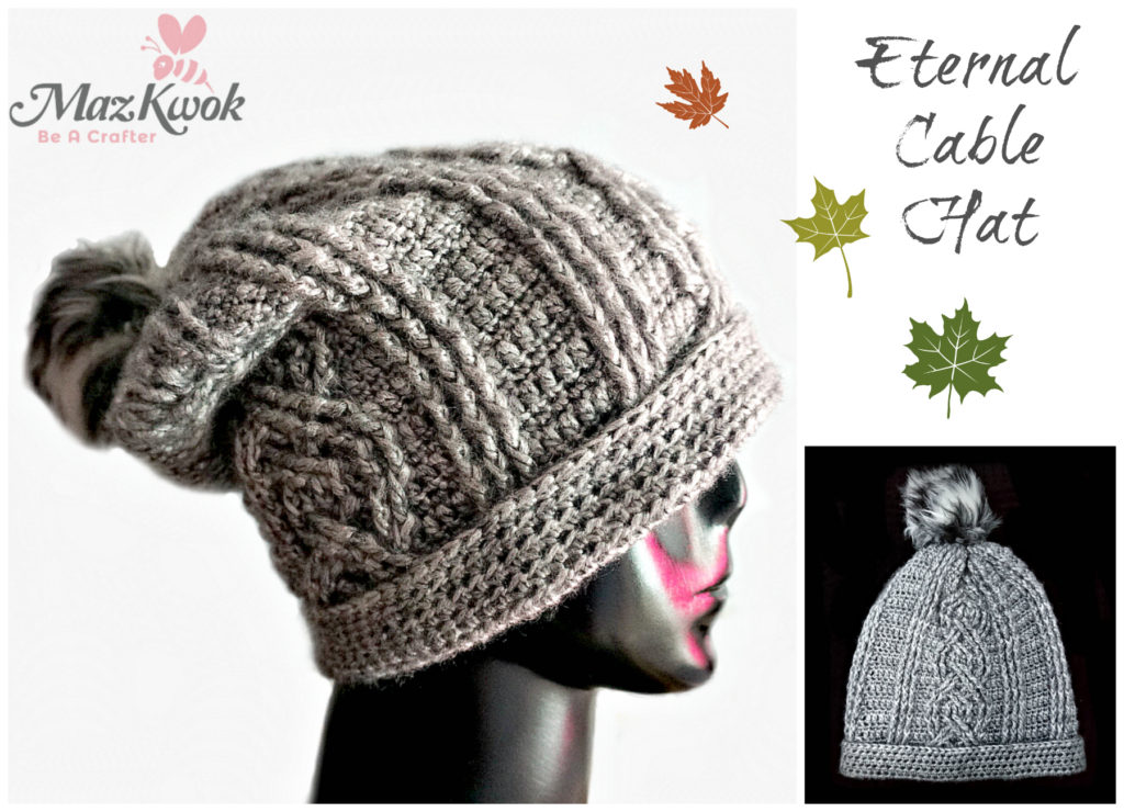 crochet cable hat
