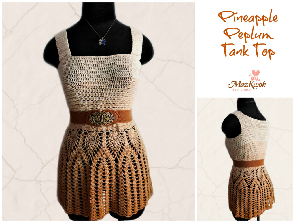 crochet peplum tank top